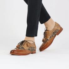 Derby shoes Selina 41 Tan Sand Suede Leo Beige