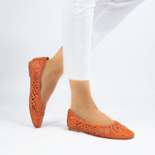 Ballet Pumps Melly 1 Weave Orange