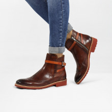 Ankle boots Amelie 11 Wood Strap Winter Orange