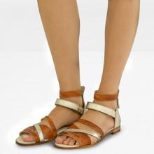 Sandals Celia 46 Vegas Cuoio Talca Platin