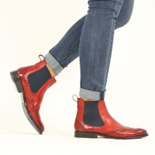 Ankle boots Amelie 5 Pisa Ruby Elastic Navy