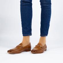Loafers Scarlett 22 Pisa Tan Trim Gold