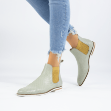 Ankle boots Susan 10 Nappa Glove Perfo Tropical Sea