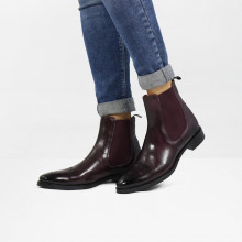 Ankle boots Betty 1 Deep Pink Elastic Burgundy