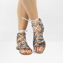 Sandals Celia 27 Italian Snake Unito 718 LS Natural