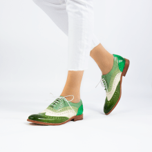 Oxford shoes Amelie 10 Vegas Ultra Green White Mint Algae Electric Green