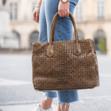 Handbags Kimberly 1 Woven Khaki