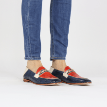Loafers Scarlett 45 Vegas Turtle Navy Fiesta White Trim