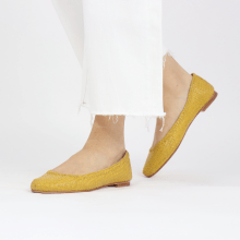 Ballet Pumps Kate 5 Woven Yellow
