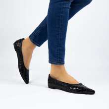 Ballet Pumps Lydia 3 Woven Scale Black