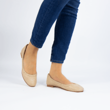 Ballet Pumps Kate 5 Woven Off White Natural