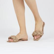Mules Sandrine 3 Nappa Beige Footbed