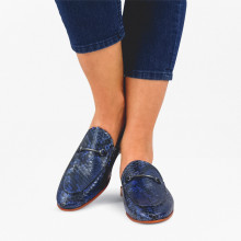 Mules Scarlett 4 Snake Electric Blue LS Natural