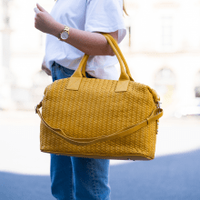 Handbags Kimberly 2 Woven Yellow