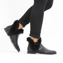 Ankle boots Susan 92 Crock Fur Lux Black