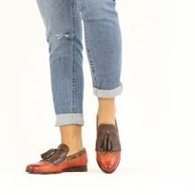 Loafers Selina 3 Imola Rust Textile Pixel Orange