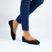 Ballet Pumps Kate 5 Woven Black Raffia Accessory Bee