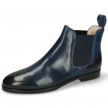 Ankle boots Susan 10 Mid Blue Elastic Navy