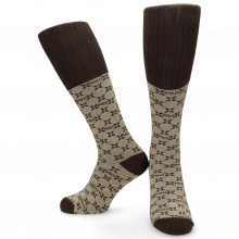 Socks Jamie 1 Knee High Socks Beige Brown
