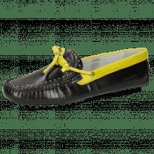 Loafers Caroline 8 Black Fluo Yellow