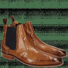 Ankle boots Jordan 2 Milano Tan Mixed Rivets Elastic Navy