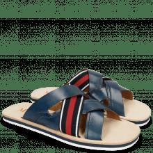 Sandals Sam 12 Navy Strap Red