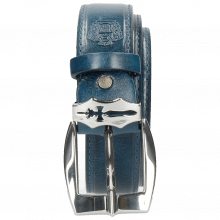 Belts Larry 1 Mid Blue Sword Buckle