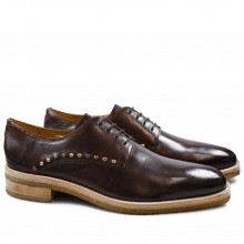 Derby shoes Tom 8 Milano Mid Brown Mixed Rivets Crepe Natural