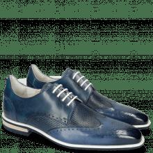 Derby shoes Dave 2 Tough Vegas Nappa Navy Glove Perfo
