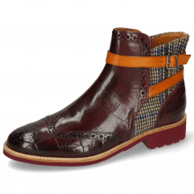 Ankle boots Selina 25 Turtle Burgundy Textile Quilesa