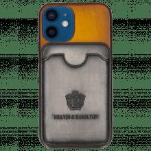 iPhone case Twelve Mini Vegas Yellow Wallet Grigio