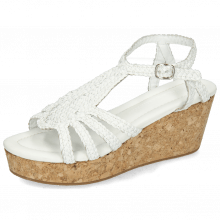 Sandals Hanna 55 Woven White Cork