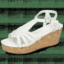 Sandals Hanna 55 Woven White Cork