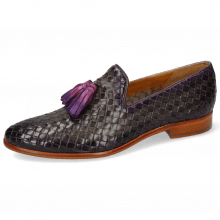 Loafers Brad 10 Woven Grigio Shade Purple Flame
