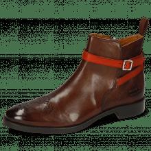 Ankle boots Betty 8 Pisa Mid Brown Strap Winter Orange