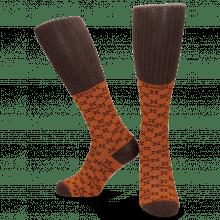 Socks Jamie 1 Knee High Socks Orange Brown
