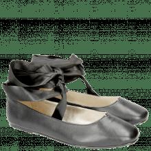 Ballet Pumps Melly 4 Nappa Black Ribbon