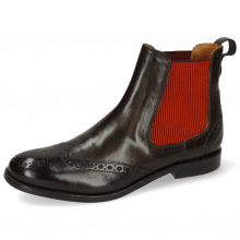 Ankle boots Amelie 5 Imola Espresso Elastic Orange Wine