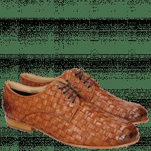 Derby shoes Sally 13 Woven Nappier Tan