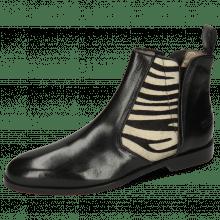 Ankle boots Susan 34 Black Hairon Zebra