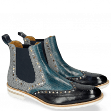 Ankle boots Eddy 28 Navy Perfo Mid Blue Denim