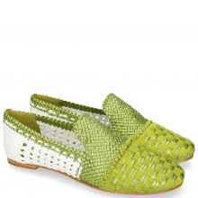 Loafers Kate 24 Woven Satin Greenery