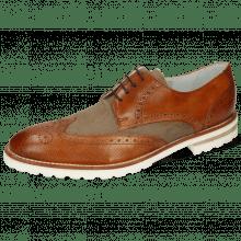 Derby shoes Kane 5 Venice Dice Tan Canvas Beige