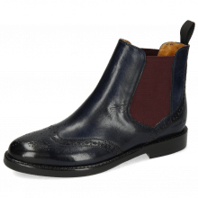 Ankle boots Selina 6 Pisa Navy Elastic Burgundy