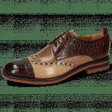 Derby shoes Eddy 48 Croco Mink Cappuccino Chestnut