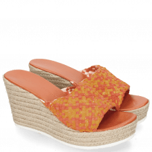 Mules Abby 1 Woven Satin Orange