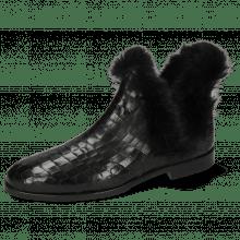 Ankle boots Susan 92 Crock Fake Fur Black