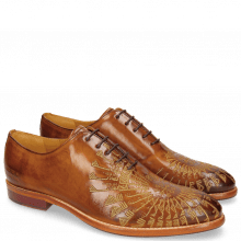 Oxford shoes Kane 21 Tan Embrodery Gold