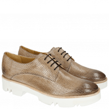 Derby shoes Amelie 14 Perfo Morning Grey Iron White