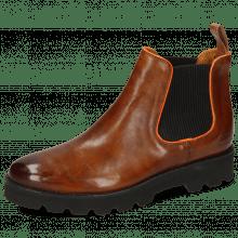 Ankle boots Selina 37 Pisa Wood Binding Fluo Orange